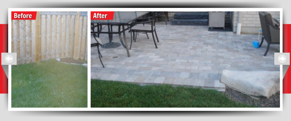 Before and After Example #1 - Stone Patio