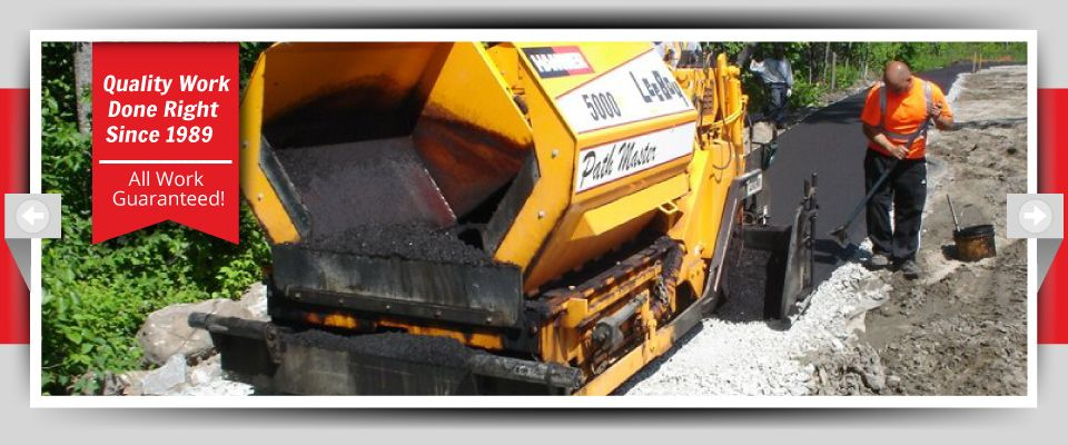 Quality Work Done Right Since 1989 - All Work Guaranteed! - smoothing asphalt