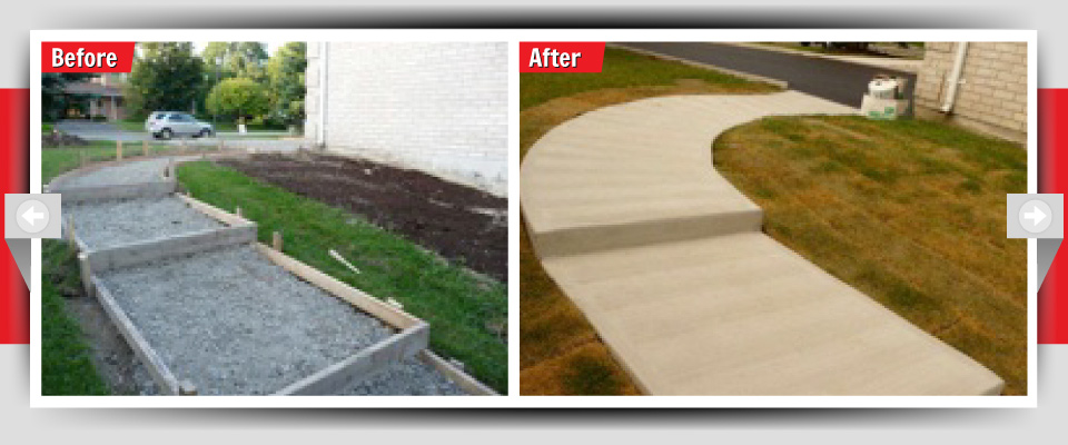 Before and After Example #3 - Concrete Sidewalks