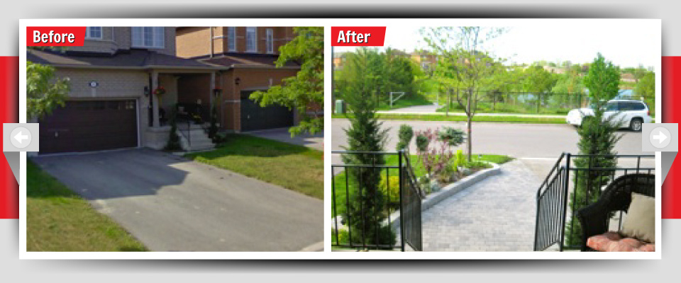 Before and After Example #10 - Custom Landscaping