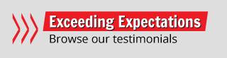 Exceeding Expectations - Browse our testimonials