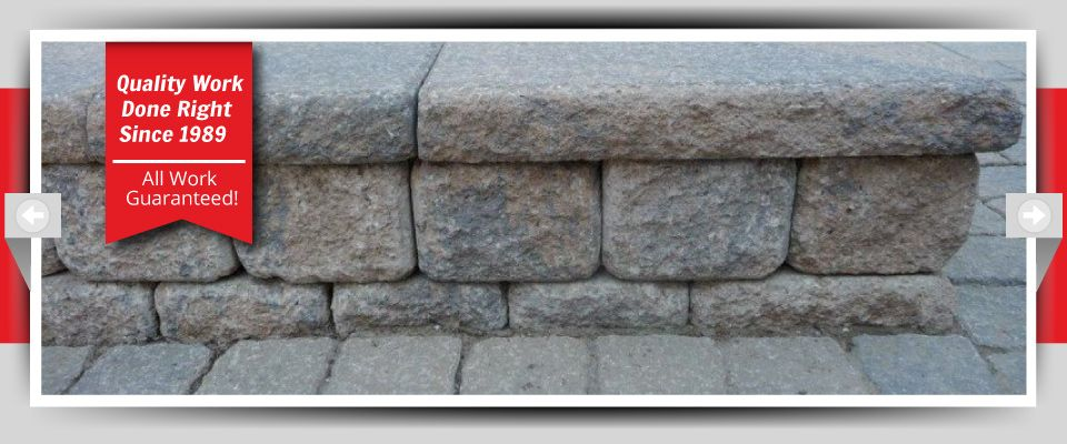 Quality Work Done Right Since 1989 - All Work Guaranteed! - Stone Flowerbeds Closeup