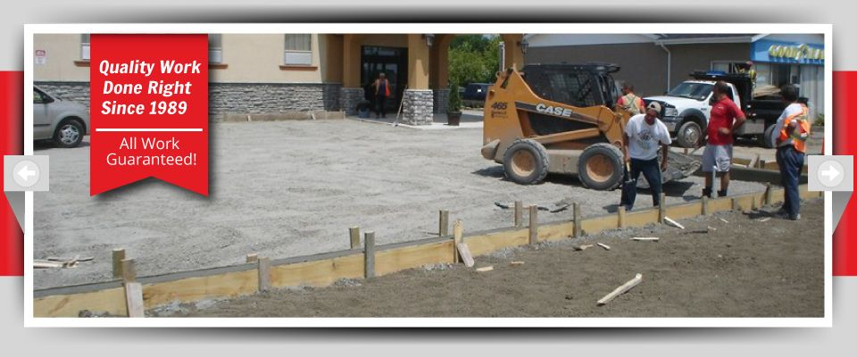 Quality Work Done Right Since 1989 - All Work Guaranteed! - parking lot in progress