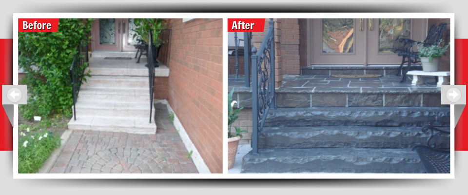 Before and After Example #8 - Stone Porches