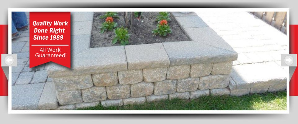 Quality Work Done Right Since 1989 - All Work Guaranteed! - Stone Flowerbeds
