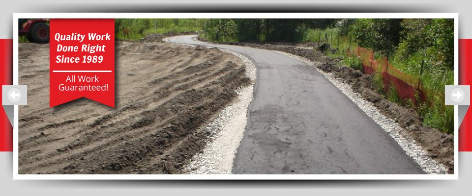 Quality Work Done Right Since 1989 - All Work Guaranteed! - asphalt walkway in progress