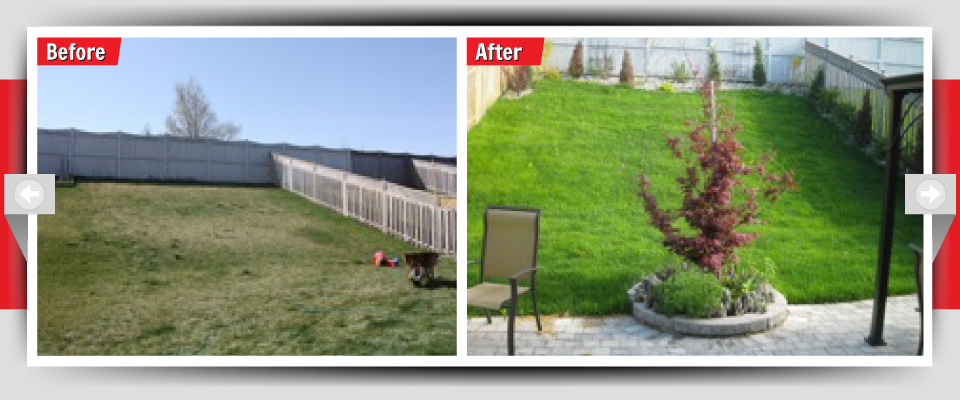 Before and After Example #12 - Custom Backyards