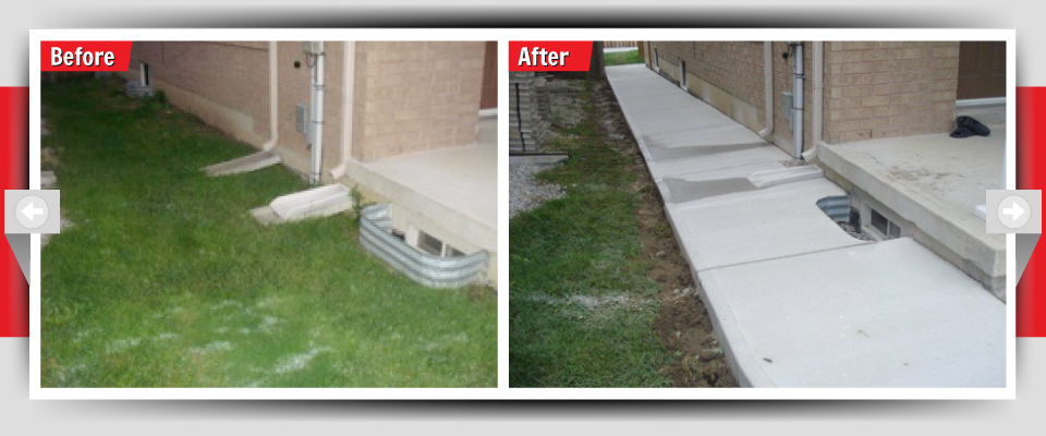 Before and After Example #2 - Residential Concrete