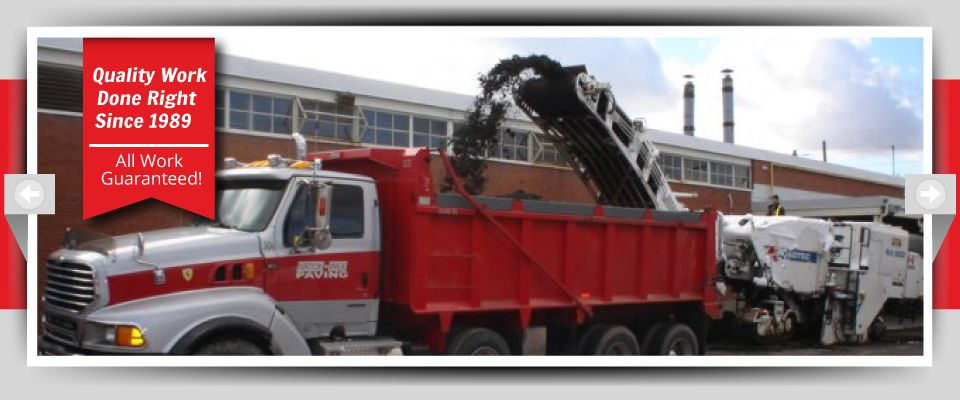 Quality Work Done Right Since 1989 - All Work Guaranteed! - dump truck on work site