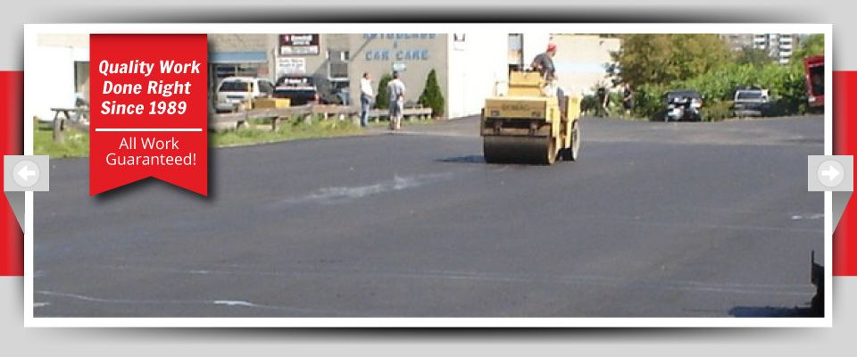 Quality Work Done Right Since 1989 - All Work Guaranteed! - asphalt lots