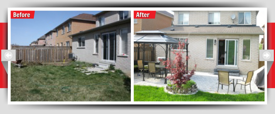 Before and After Example #11 - Custom Back Patios