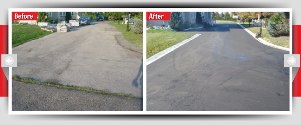 Before and After Example #6 - Asphalt Driveways
