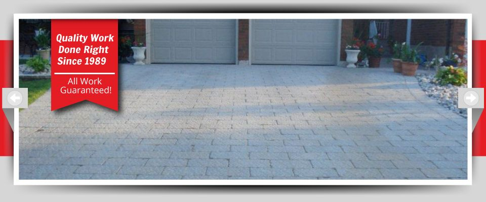 Quality Work Done Right Since 1989 - All Work Guaranteed! interlocking stone driveways