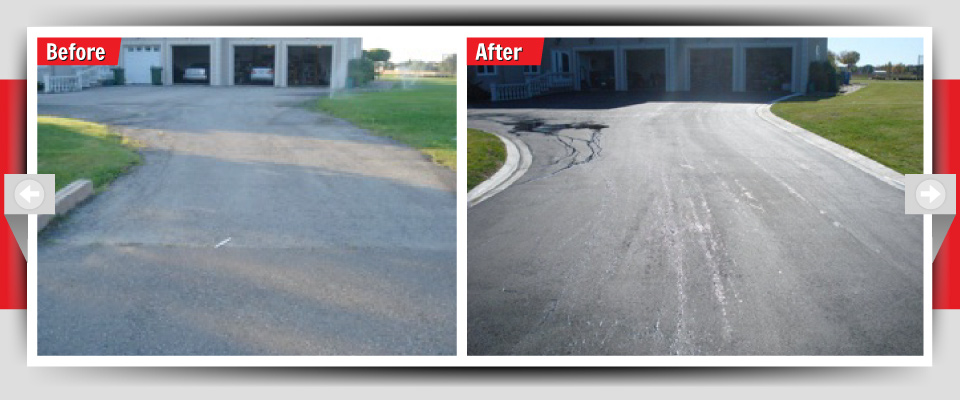 Before and After Example #7 - Asphalt Driveways