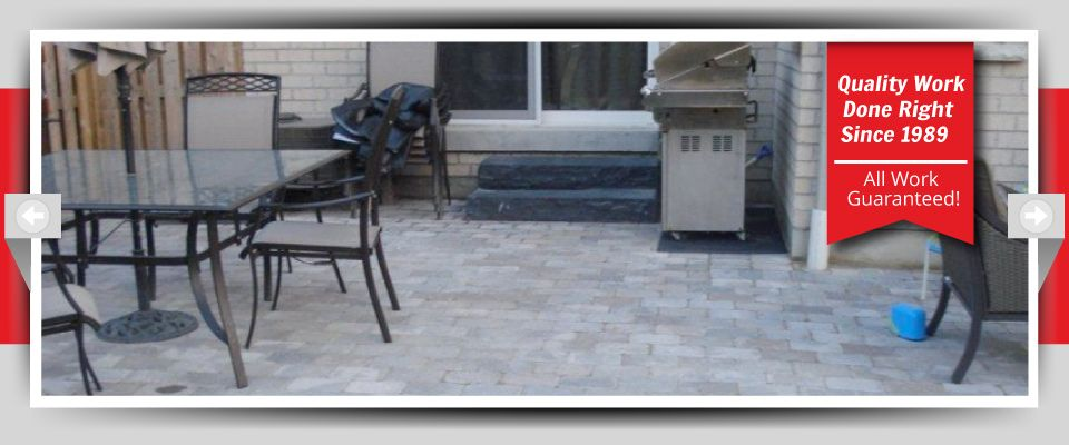 Quality Work Done Right Since 1989 - All Work Guaranteed! - Stone Patio