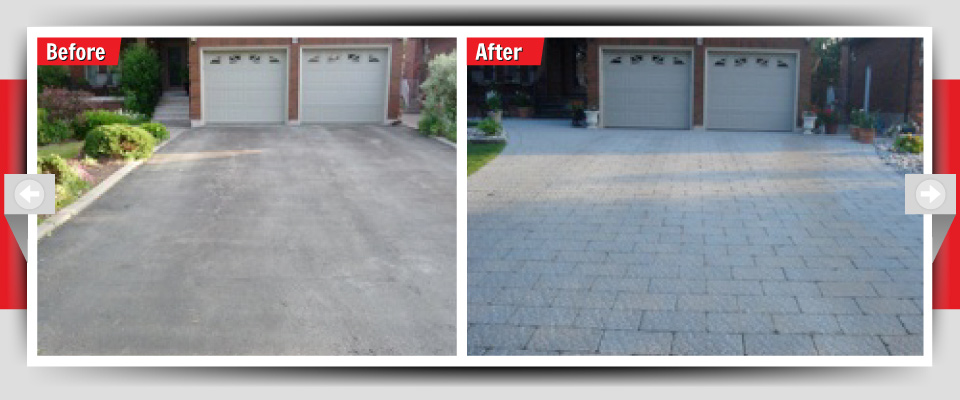 Before and After Example #4 - Stone Driveways