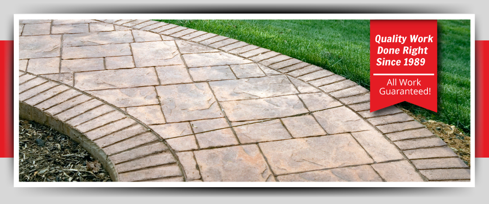 Quality Work Done Right Since 1989 - All Work Guaranteed! - stone walkway